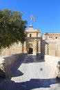 City gate mdina malta the entrance to former capital of europe Royalty Free Stock Photos