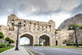 City gate muscat in oman on a cloudy day Stock Photography