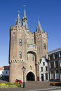 City Gate of Zwolle, Holland Stock Images