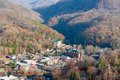 City of gatlinburg tennessee view from above Stock Photo