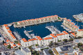 City of gibraltar marina and new apartment buildings Stock Photography