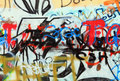 City graffiti Royalty Free Stock Photo