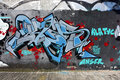 The city graffiti on the cement wall Royalty Free Stock Photo
