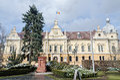 The city hall of brasov city primaria orasului brasov romania Royalty Free Stock Photo