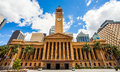 City Hall in Brisbane from King George Square Royalty Free Stock Photo