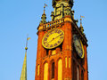 City hall in gdansk poland of the main of located on dlugi targ long market street Stock Photography