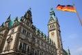 City Hall in Hamburg Royalty Free Stock Photo