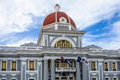 City Hall in Jose Marti Park in Cienfuegos, Cuba Royalty Free Stock Photo