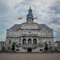 City hall maastricht building in netherlands Royalty Free Stock Images