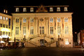 City hall on the market place in bonn germany at night historic main square of old town Royalty Free Stock Photo