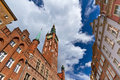 City hall in the old town of Gdansk Stock Photo