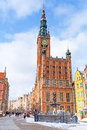 City hall old town gdansk poland Stock Photo