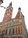 City hall of old town in gdansk poland the main polish ratusz glownego miasta the built gothic and renaissance architectural Stock Images