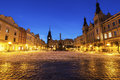 City Hall and Plague Column on Pernstynske Square in Pardubice Royalty Free Stock Photo