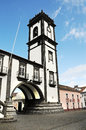 City hall from ribeira grande azores islands portugal Stock Image