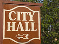 City Hall sign Royalty Free Stock Photo
