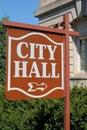 City Hall Sign Royalty Free Stock Photo