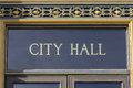 City Hall Sign San Francisco CA Royalty Free Stock Photo