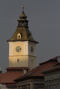 City hall tower brasov romania clock in transylvania Stock Image
