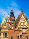 City hall of Wroclaw, Poland Stock Image