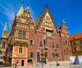 City hall of Wroclaw, Poland Stock Images