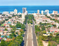 The city of Havana on a beautiful summer day Royalty Free Stock Photo