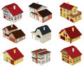 City houses in perspective vector illustration of Stock Image