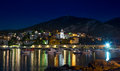 City Hvar at night Royalty Free Stock Photo