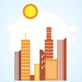 City icons colorful concepts and elements vector illustration Stock Photos