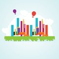 City icons colorful concepts and elements vector illustration Stock Images