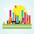 City icons colorful concepts and elements vector illustration Royalty Free Stock Photo