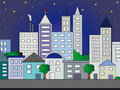 City illustration Royalty Free Stock Photos