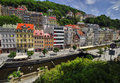 City karlovy vary center in czech republic Stock Photography