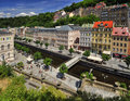 City karlovy vary view of center in czech republic Stock Photography
