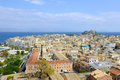 City of kerkyra aerial view corfu island greece Royalty Free Stock Image