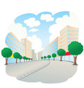 City landscape vector illustration of a Royalty Free Stock Photos