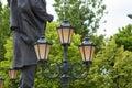 City lantern set three Royalty Free Stock Photo