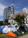 City life: Occupy Auckland Royalty Free Stock Photos