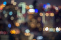 City light blur bokeh, defocused background Royalty Free Stock Photo