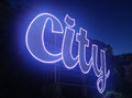City light an electronic sign of wording Royalty Free Stock Photos
