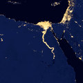 City lights Of Egypt ,Elements of this image are furnished by NASA Royalty Free Stock Photo