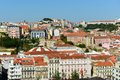City of lisbon portugal baixa district from miradouro de sao pedro de alcantara Stock Image