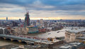 City of london business and banking aria london s panorama in sun set view from the st paul cathedral uk january Royalty Free Stock Photos