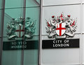 City of London Crest Royalty Free Stock Photo