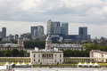 City of London, England from Greenwich Royalty Free Stock Photography