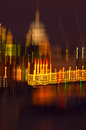 City of london impressionism in camera impressionist composition the andthe iconic st paul s cathedral at night image totally Royalty Free Stock Photography