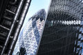City of london office buildings gherkin uk Royalty Free Stock Photo