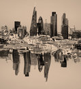 City of London one of the leading centres of global finance.This view includes Tower 42 Gherkin,Willis Building, Stock Exchange T Royalty Free Stock Photo