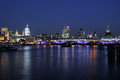 City Of London skyline at dusk Stock Photography