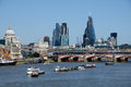 City of london skyline in summer summertime with new buildings and river Stock Photos